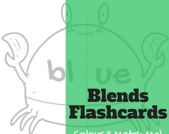 Blend Smoothies flashcard sheets - Bl  |  Cl  |  Fl  |  Gl  |  Pl - black and white version