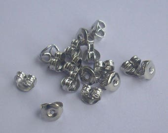 500 caps to Silver Earring - Iron supportive Earrings Backs
