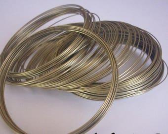 Bracelet in - memory wire - 100 ROUNDS 0.6 mm bronze metal