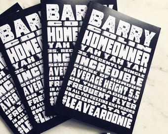 Barry C Homeowner A5 Note Book - Bob Mortimer's Athletico Mince Podcast