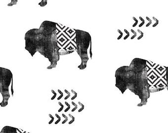 Tribal Buffalo Baby Blanket