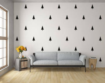Holiday Wall Decals Etsy - Custom vinyl wall decals christmas
