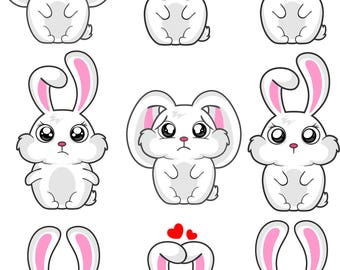 design a cute rabbit