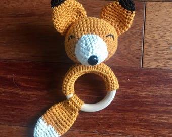 Crochet rattle Renardo