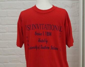 90's t-shirt Vintage USA large