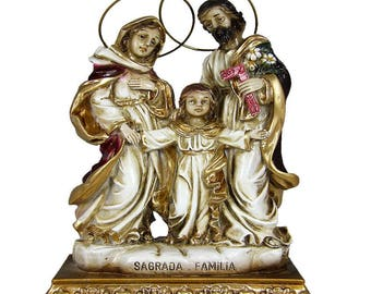 Holy Family Religious Statue Virgin Mary, Saint Joseph and Child Jesus #711