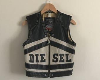 Vintage DIESEL Leather Motorcycle Vest