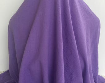 17-281 Hyacinth Purple Cotton Crinkle Guaze- Sold by the Yard
