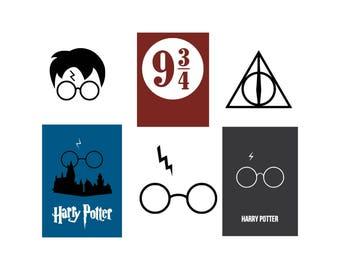 Harry Potter glasses svg Harry Potter svg Harry Potter posters svg Harry Potter symbols svg Instant Download  Digital File