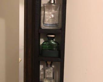 Small vertical shelves