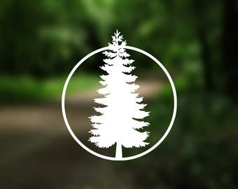 DECAL {Pine Tree} Adventure Decal   Vinyl Decal   Car Window Decal   Laptop Decal   Water Bottle Decal   Phone Decal   Bumper Sticker
