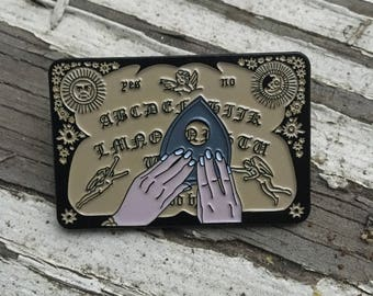 WITCHBOARD Soft Enamel Horror Pin