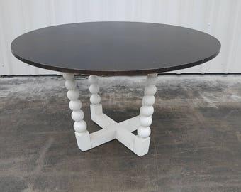 Bobbin Dining Table By Century Furniture - Off White/ Espresso
