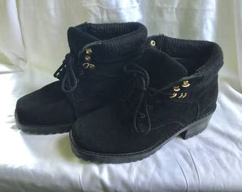 Women's Boots, Size 7 Black Boots, Ankle Boots, Hiking Boots, Suede Boots