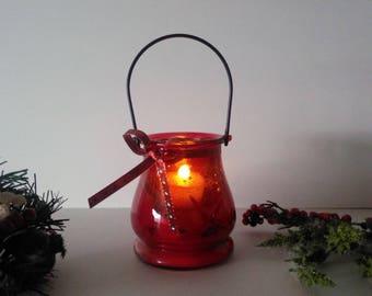 Seashell Tea Light Glass Candle Lantern