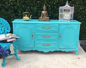 Tiffany Blue French Provincial Dresser