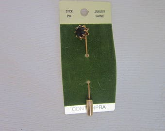 Designer Contempra January Birthstone Garnet Stickpin Never used