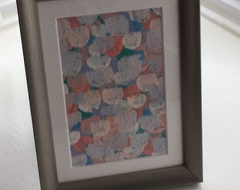 Abstract Acrylic 'confetti' on canvas in silver frame, great wedding gift