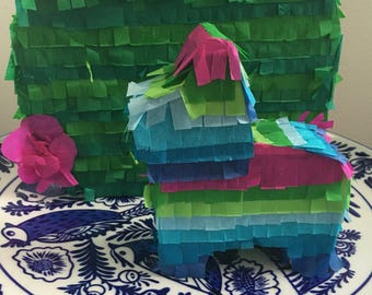 Mini Pinata Turquoise Blue Pink Green perfect for your next fiesta!