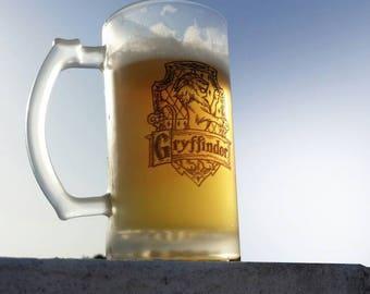 harry potter mug beer butterbeer glass hogwarts gryffindor slytherin ravenclaw hufflepuff mug personalized beer glass wedding