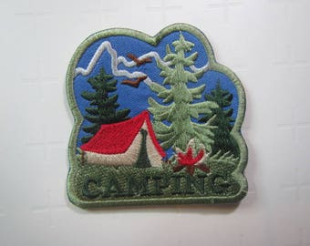 Camping – Outdoors - Recreation -  Iron on Patch