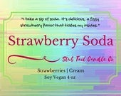 Strawberry Soda - Scented Soy Candle Inspired by Warcross