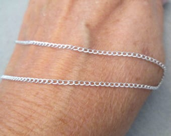 "HUGE SALE>Beautiful & Simple,Strong>>Solid Sterling Silver 24"" chain with Clasp>Endless>> 2mm wide and 3.4gms. >NEW old stock, never worn"