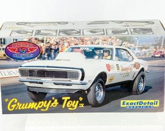 Supercar Exact Detail Grumpys Toy 1968 Pro Stock Camaro Drag Car 1/18 Diecast