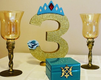Giant number party decoration for kids birthday party