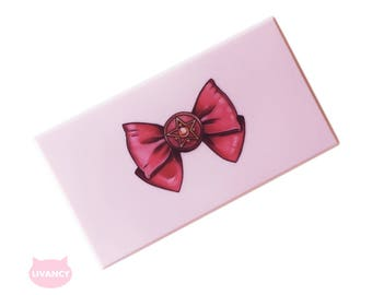 M Magnetic Palette Pink with Mirror - Makeup Palette - Makeup Organize - Fits 18 Eyeshadows* [Sailormoon]