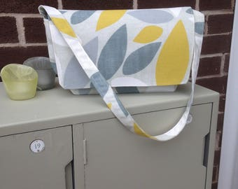 Shoulder Bag, 100% cotton, Fully lined in contrasting polka-dot fabric, Perfect gift, bold print, Excellent quality fabric