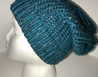Teal Tweed Hat