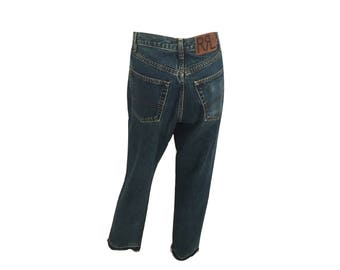 Vintage Ralph Lauren Jeans, High Waisted Jeans, Raw Cut Hem
