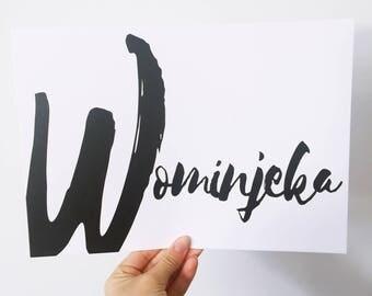 Wominjeka (black)