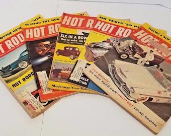 Vintage Hot Rod Magazine Lot of 5 50s 60s
