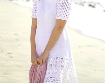 100% cotton dress with A lace pattern