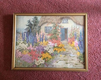 "Beautiful painted ""My cottage on the moor"" from the original by E.A.Andrews."