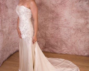 Soft Pleated Angelina Faccenda Gown