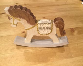 Handpainted Christmas Rocking Horse Ornament