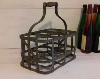 Old bottle carrier metal from the 1930's France