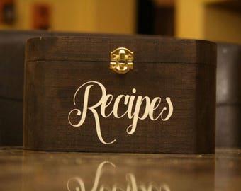 recipe box, personalized box, family decor,custom recipe box, kitchen storage, personalized gift