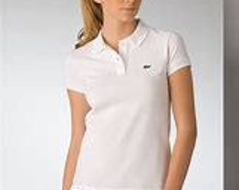 Vintage Lacoste Ladies White Polo T-shirt Size 34 (I would say a Size 6)