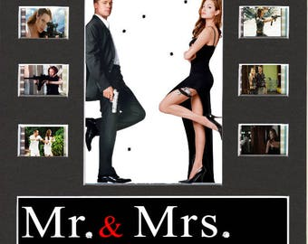 Mr And Mrs Smith replica Film Cell Presentation 10 x 8 Mounted 10 cells