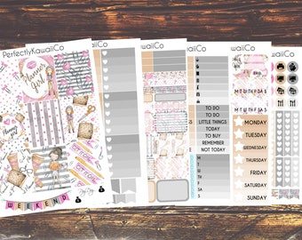 ECV03 Planner Girl- Weekly Kit For Erin Condren Vertical Planner