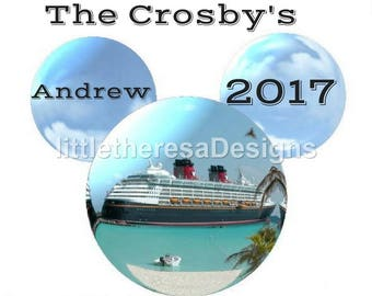 Family Disney Cruise Vacation Personalized Iron On Transfer