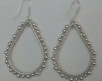 Large Silver Teardrops (#32)