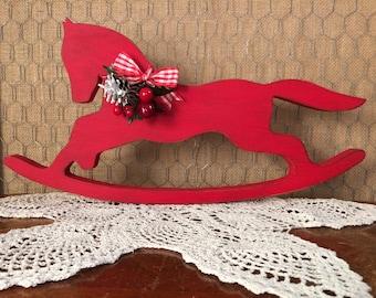 Christmas Rocking Horse Decoration
