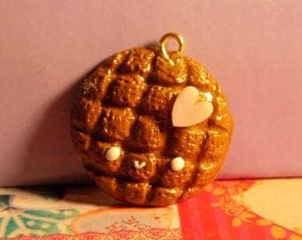 Kawaii Chocolate Cookie Polymer Clay Charm