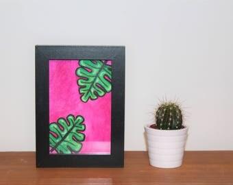 ORIGINAL Tropical Gouache Painting A6