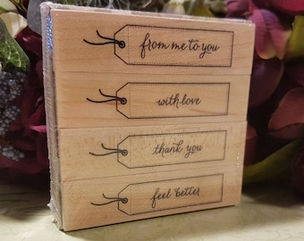 4 pc tag stamp set